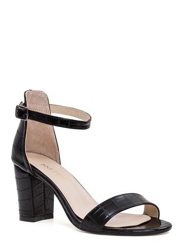 Sole Sisters Topuklu Sandalet Siyah - Ada Siyah